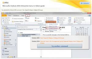Anzeige des Menüpunktes in Outlook 2010